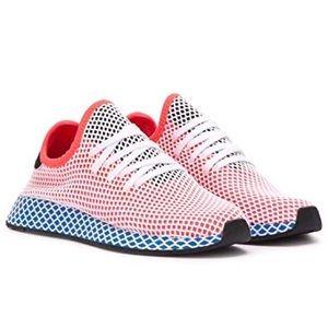 NWOB Adidas Deerupt 'Red Blue' Women's Sneaker